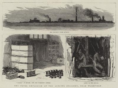 The Fatal Explosion at the Altofts Colliery, Near Wakefield--Giclee Print
