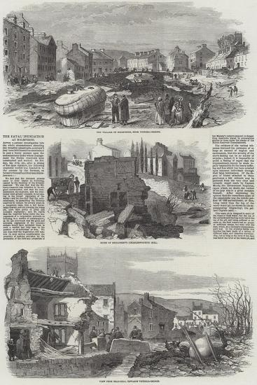 The Fatal Inundation at Holmfirth--Giclee Print