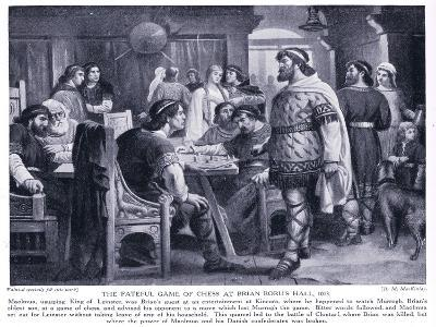 The Fateful Game of Chess at Brian Boru's Hall Ad1013, 1920's-M. Mackinlay-Giclee Print