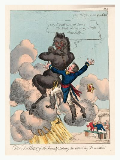The Father of the Family Takeing [Sic] His Eldest Boy from School--Giclee Print