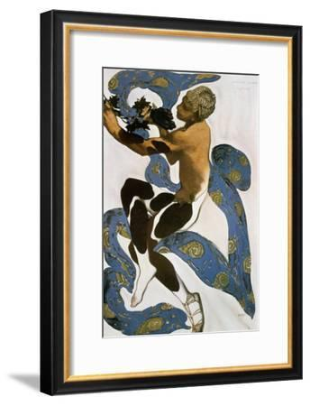 The Faun (Nijinsk), Costume Design for the Ballets Russes, 1912-Leon Bakst-Framed Giclee Print