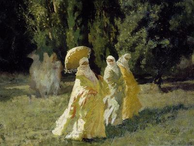 The Favorites in the Park, 1870-Cesare Biseo-Giclee Print