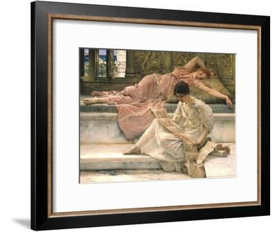 The Favourite Poet, 1888-Sir Lawrence Alma-Tadema-Framed Giclee Print