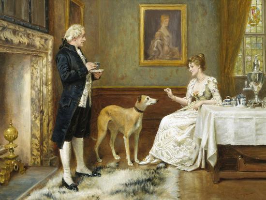The Favourite-George Goodwin Kilburne-Giclee Print