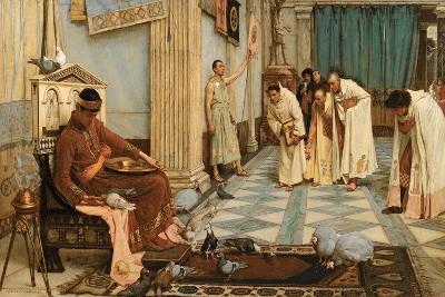 The Favourites of Emperor Honorius, C.1883-John William Waterhouse-Giclee Print