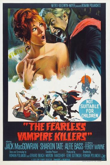 The Fearless Vampire Killers, Australian poster, Sharon Tate, Ferdy Mayne, 1967--Art Print
