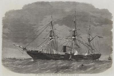 The Federal Sloop-Of-War Tuscarora in Southampton Water-Edwin Weedon-Giclee Print