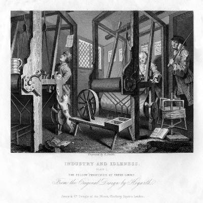 The Fellow Prentices at their Looms, Plate I of Industry and Idleness, 1833-E Smith-Giclee Print