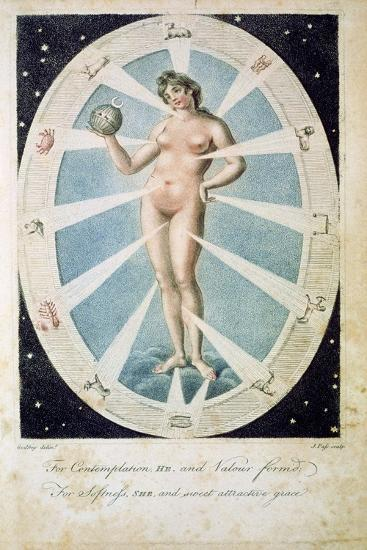 The female form with astrological symbols, 1790-Unknown-Giclee Print