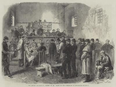 The Fenian Insurrection, Inquest on Mr Cleary in the Courthouse at Kilmallock--Giclee Print
