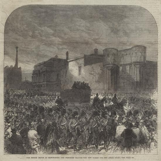 The Fenian Trials at Manchester, the Prisoners Leaving the New Bailey for the Assize Court-Charles Robinson-Giclee Print