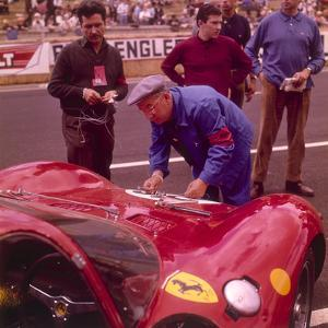 The Ferrari Pit, Le Mans, France, 1965