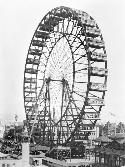 The Ferris Wheel at the World's Columbian Exposition of 1893 in Chicago--Giclee Print