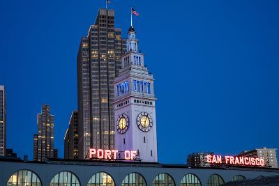 The Ferry Building on the Embarcadero in San Francisco, California, Usa-Chuck Haney-Photographic Print