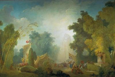 The Festival in the Park of St, Cloud, 1778-80-Jean-Honor? Fragonard-Giclee Print