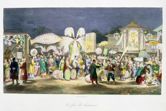 The Festival of the Lanterns, China, 1824-1827-Unknown-Giclee Print