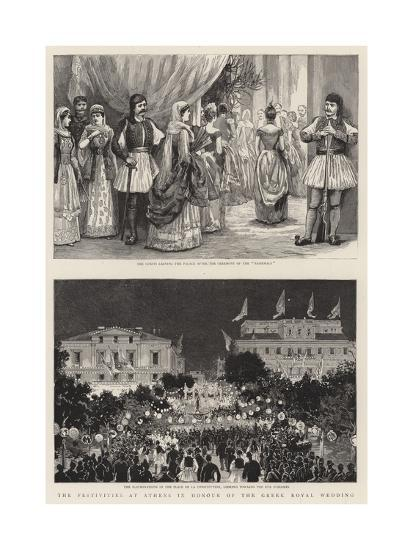 The Festivities at Athens in Honour of the Greek Royal Wedding--Giclee Print