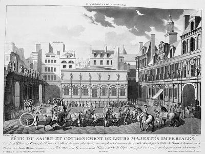 The Festivities of the Coronation, Paris, 2nd December 1804, 19th Century--Giclee Print