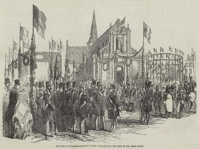The Fete at Boulogne, Concert in the Place D'Alton, and Arch in the Grand Place--Giclee Print