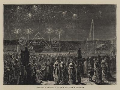 The Fete at the Crystal Palace in Honour of M De Lesseps--Giclee Print
