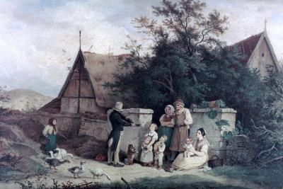 The Fiddler of the Village, 1845-Ludwig Richter-Giclee Print