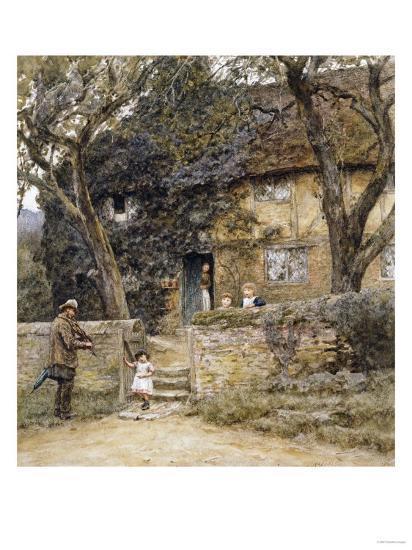 The Fiddler-Helen Allingham-Giclee Print