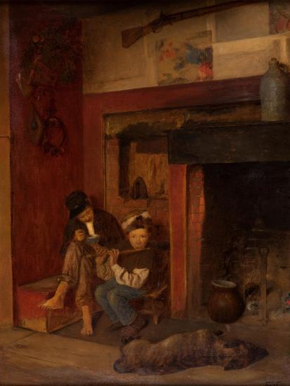 The Fifer and His Friend, 1870-80-Eastman Johnson-Giclee Print