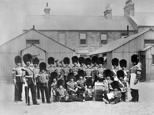 The Fifes and Drums of the 3rd Battalion, Grenadier Guards at Beggarbush Barracks, Dublin, 1868