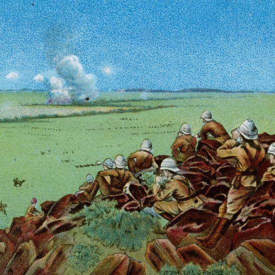 'The Fight at Paardeberg', 1900-Unknown-Giclee Print