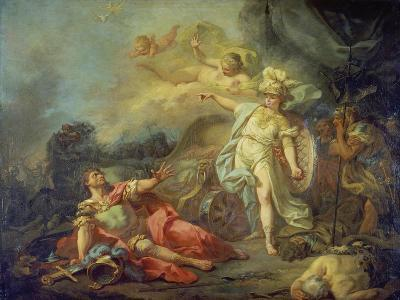 The Fight Between Mars and Minerva-Jacques Louis David-Giclee Print