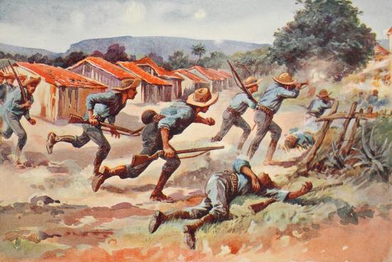 The Fight for El Caney: the Final Charge of Chaffee's Brigade--Giclee Print