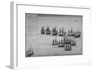 'The Fight of the Mary Rose', 1669-Wenceslaus Hollar-Framed Giclee Print