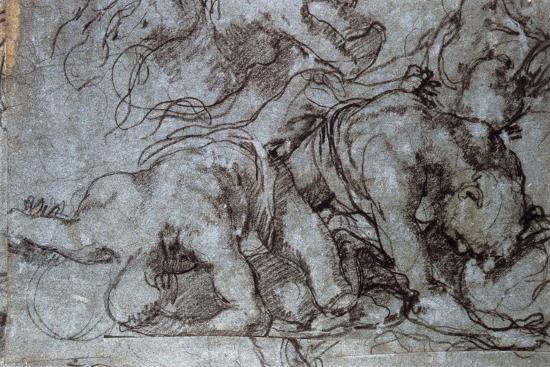The Fighters, 16th Century-Taddeo Zuccaro-Giclee Print