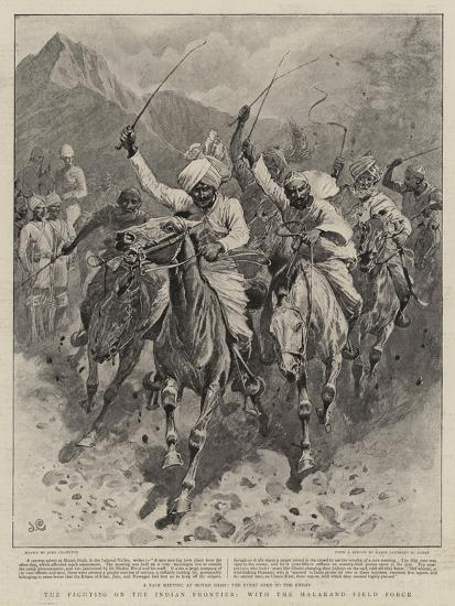 The Fighting on the Indian Frontier, with the Malakand Field Force-John Charlton-Giclee Print