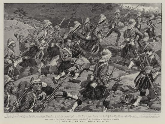 The Fighting on the Indian Frontier-Frank Dadd-Giclee Print