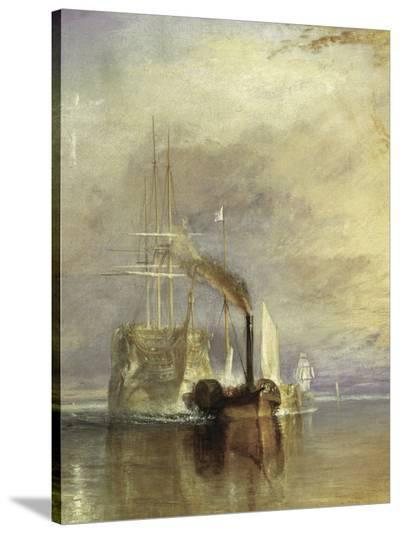 The Fighting Temeraire - Detail-J^ M^ W^ Turner-Stretched Canvas Print