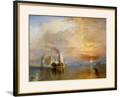 """The """"Fighting Temeraire"""" Tugged to Her Last Berth to be Broken Up, Before 1839-J^ M^ W^ Turner-Framed Giclee Print"""