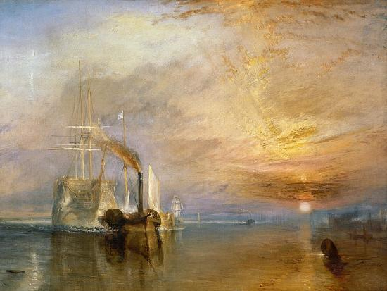 "The ""Fighting Temeraire"" Tugged to Her Last Berth to be Broken Up, Before 1839-J^ M^ W^ Turner-Premium Giclee Print"