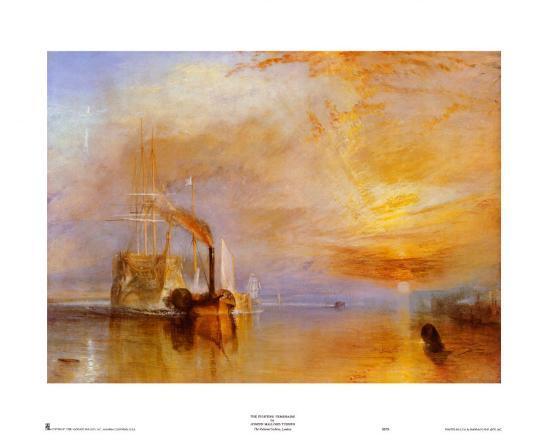 The Fighting Temeraire-J^ M^ W^ Turner-Art Print