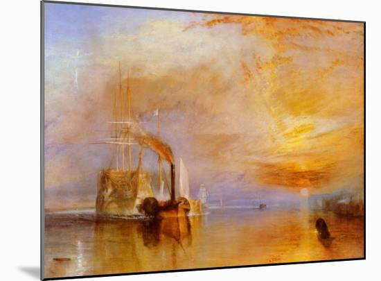 The Fighting Temeraire-J^ M^ W^ Turner-Mounted Art Print