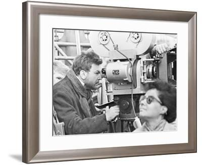The Film Director Sergei Bondarchuk Shooting 'War and Peace'--Framed Photographic Print