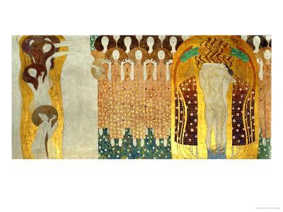 The Final Chorus of Beethoven's 9th Symphony-Gustav Klimt-Giclee Print