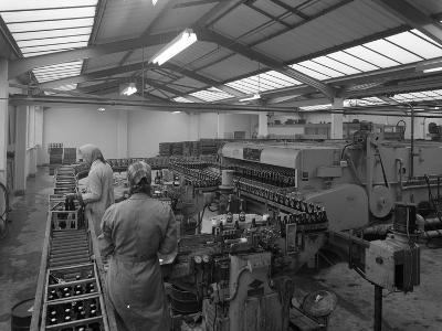 The Final Process of Bottling Beer, Ward and Sons Bottling Plant, Swinton, South Yorkshire, 1960-Michael Walters-Photographic Print