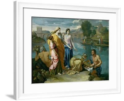The Finding of Moses, 1638-Nicolas Poussin-Framed Giclee Print