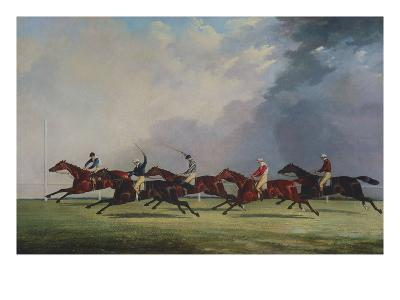 The Finish for the Ascot Cup, 1842-John Dalby of York-Giclee Print