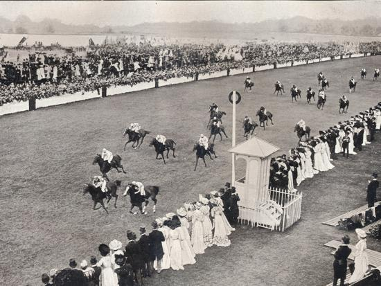'The Finish for the Royal Hunt Cup', c1903-Unknown-Photographic Print