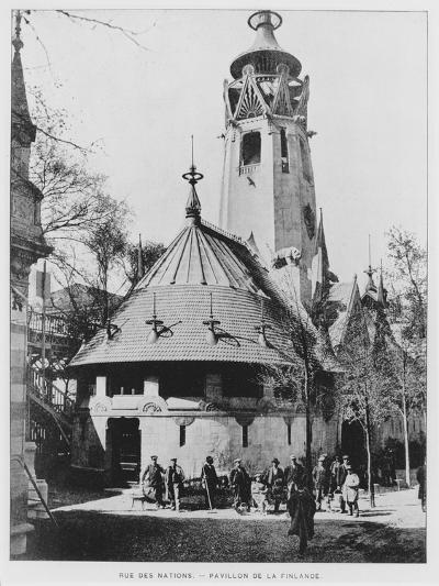 The Finnish Pavilion on Rue Des Nations at the Exposition Universelle of 1900, Paris--Giclee Print