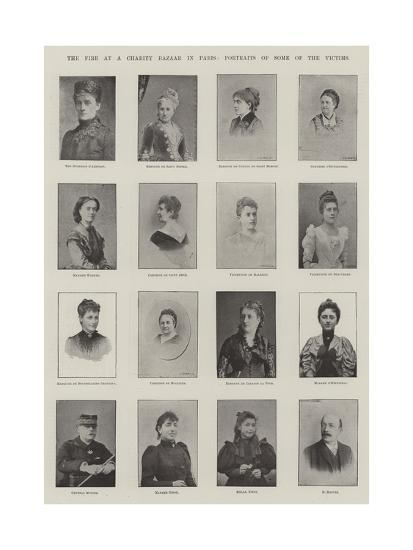 The Fire at a Charity Bazaar in Paris, Portraits of Some of the Victims--Giclee Print