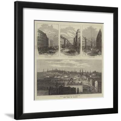 The Fire at Boston--Framed Giclee Print