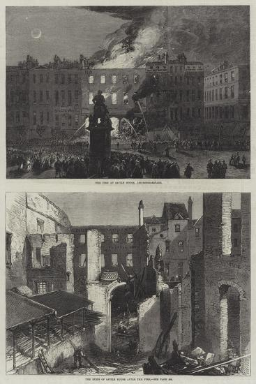 The Fire at Savile House--Giclee Print